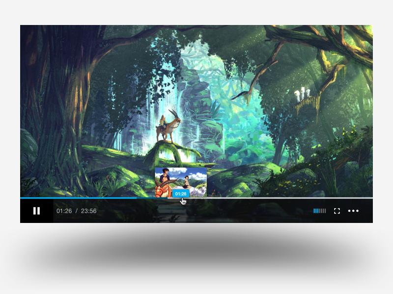 Player 003c visual design ui player video player