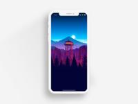Iphonex White Template Sketch