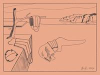 """The Persistence of Masks""(2020) dali sketch illustrator quarantine social distancing cartoon design creative"