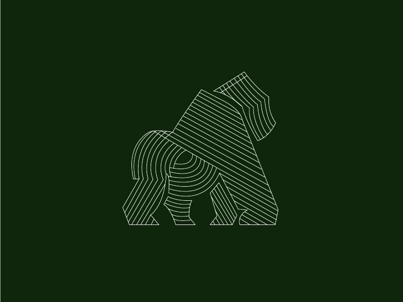 Gorillas atlanta art creative modern minimal zooatlanta gorillas monoline illustrator design