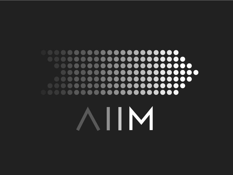 AIIM Logo Concept atlanta creative grayscale nature art modern minimal abstract illustrator design