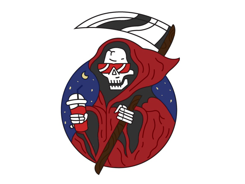 The Reaper atlanta art fun creative illustrator design