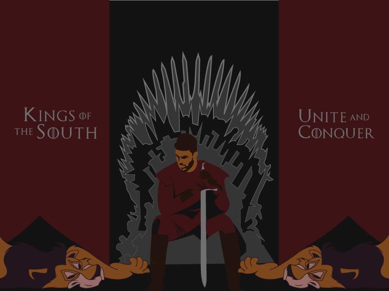 The Kings Of The South | Tifo Design lionking disney gameofthrones atlutd atlantaunited tifo illustrator design