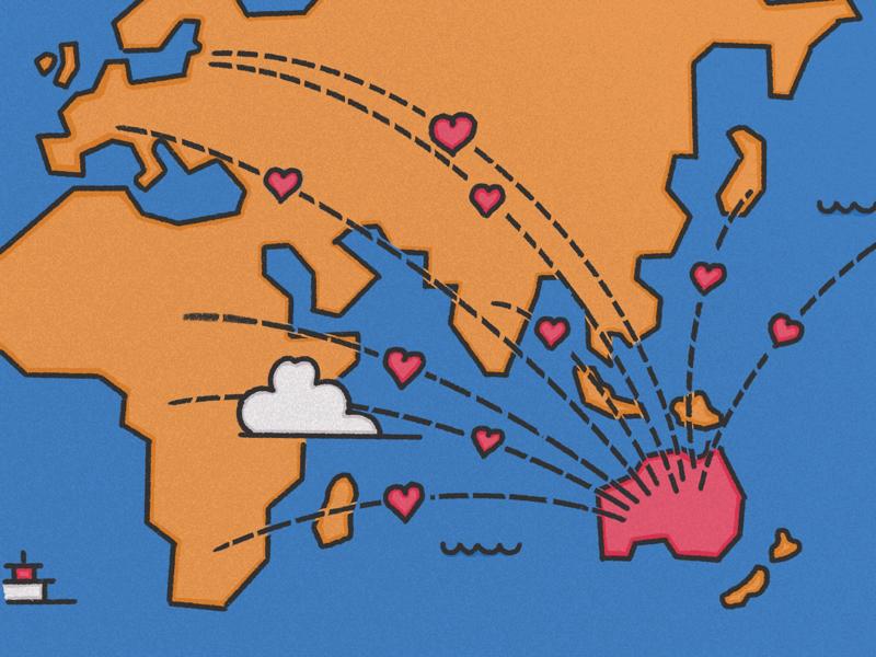 Care Package australia procreate illustration