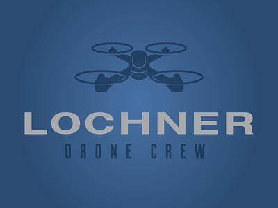 Lochner Drone Crew logo drone logo pilot flying drone vector logo illustration