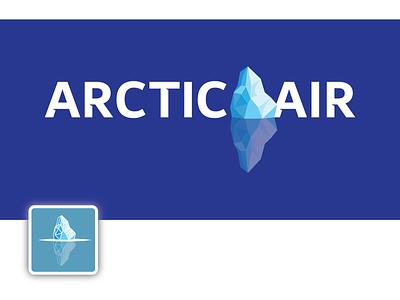 Arctic Air arctic iceberg cold vector logo illustration