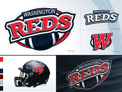 Logocontest Post2Post 2020 reds redskins contest branding icon illustration logo design vector football