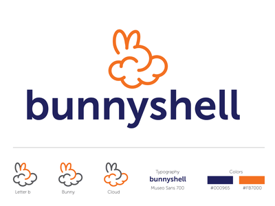 IG Contest entry bunnyshell 2020 design contest cloud bunny b icon logo vector illustration