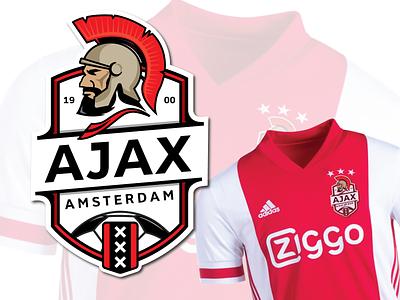 Ajax emblem 2021 amsterdam football logo football club soccer logo icon design vector logo illustration