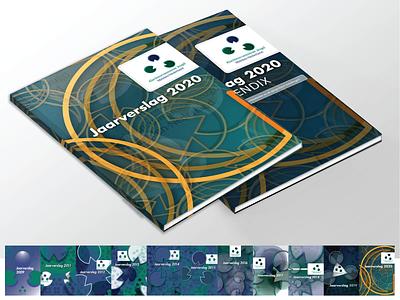 Cover design Annual Report KJMN book cover design cover book annual annual report design 10years annual report branding design vector illustration