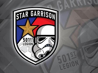 Star Garrison Emblem v2 lone star star texas emblem symbol contest icon design vector logo illustration star wars starwars