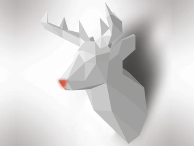 X-mas Card Illustration Rudolf 2018