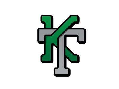 KT Monogram kt monogram logo illustration