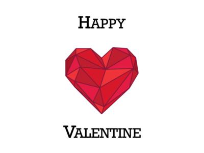 Happy Valentine love card valentine heart