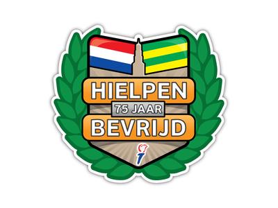 Hielpen (Hindeloopen, NL) 75 Years Liberated Logo