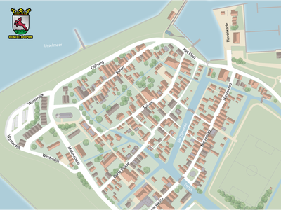 Hindeloopen Map city map illustration