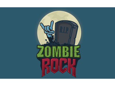 Halloween 2019 Zombie Rock rock zombie illustration logo