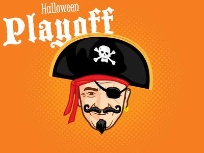 Aarrr! RMS Halloween Playoff halloween pirate illustration
