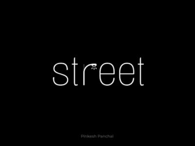 Street wordmark minimal design minimal graphic design street light logo design design logo wordmark street