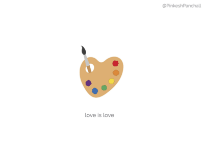 All colours are beautiful. 🌈 minimal design love is love loveislove pridemonth pride