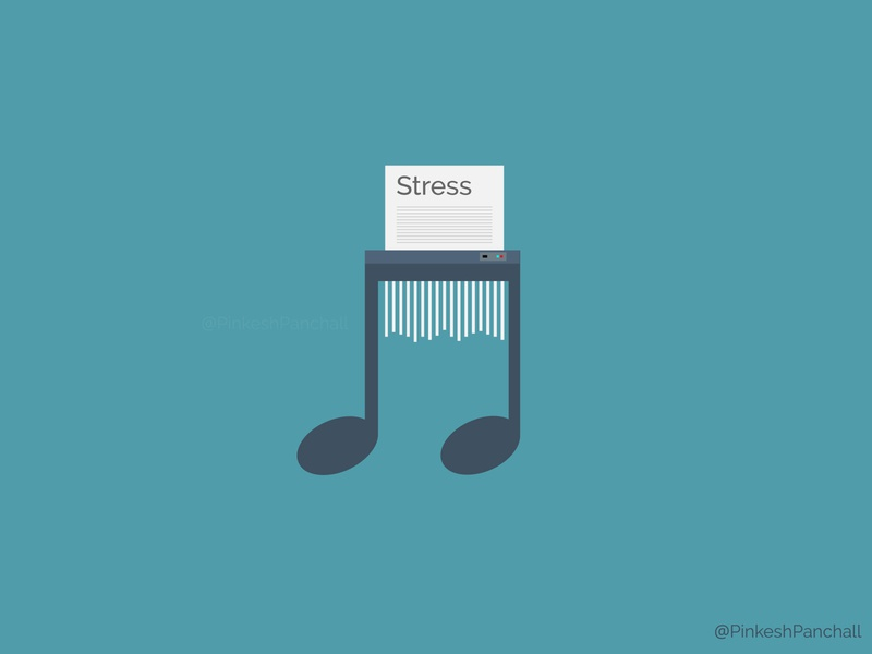 Music Stress Reliever illustration minimal design stress music art