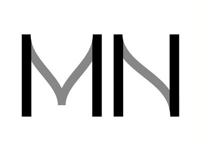 """""""M&N"""" - Le Nuove Muse type design detail e identity branding type lettering typography logotype logo"""