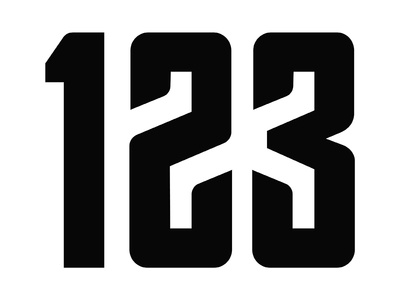 Sport Club Titling - Numbers typography visual condensed type bold branding typeface capitals type design