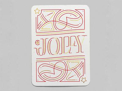 The Jolly - Red joker handlettering card design customtype type lettering typography