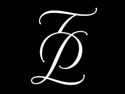TP — Monogram lettering typography paris monogram mark logotype logo