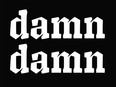 Damn typecooker typeface type design type typography