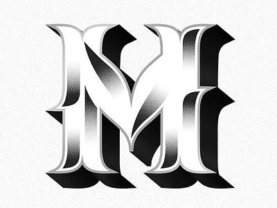 M capitals branding type design lettering type typography
