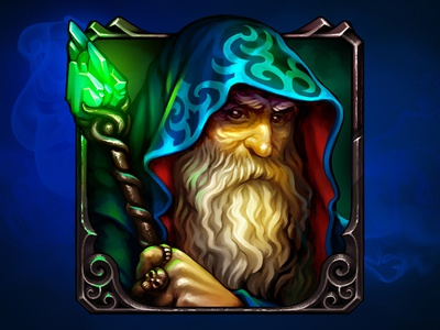 Wizard. Great and powerful! icon game art fantasy 2d personage character necromancer sorcerer warlock mage wizard