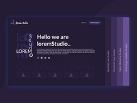 lorem studio website concept