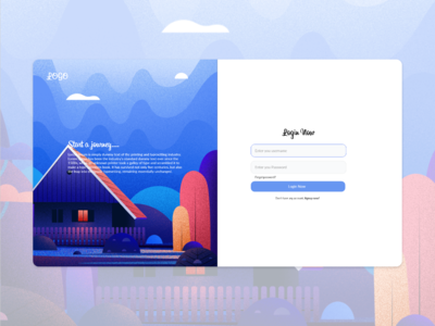login page concept