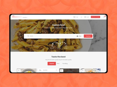 Home based food UI