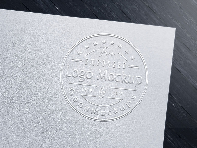 free premium embossed logo mockup psd by good mockups dribbble