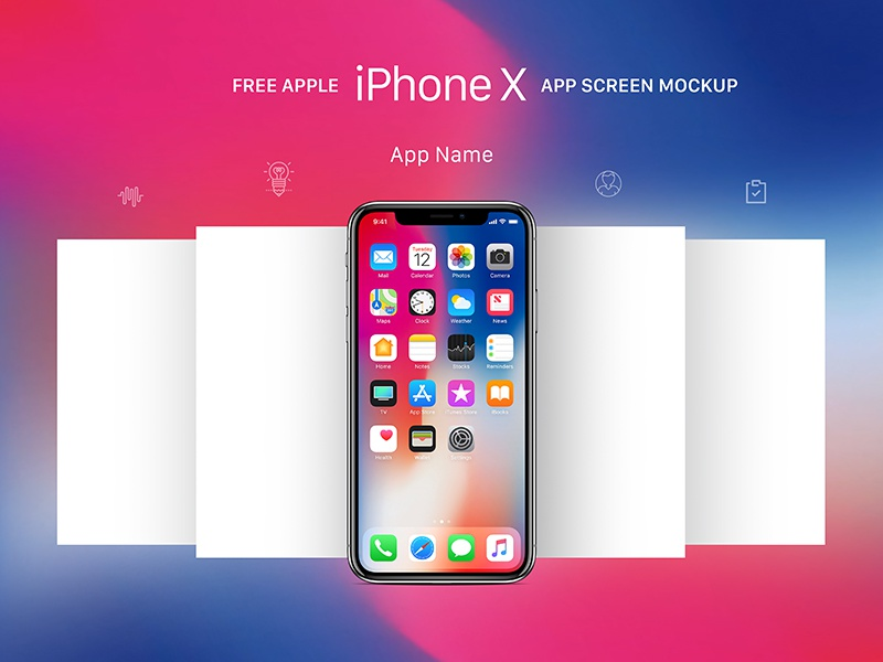 Free Apple Iphone X App Screen Mockup Psd By Good Mockups Dribbble Dribbble