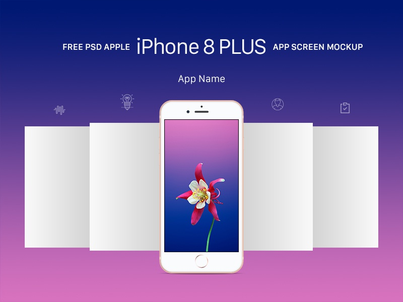Free Apple Iphone 8 Plus App Screen Mockup Psd By Good