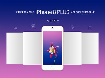 Free Apple iPhone 8 Plus App Screen Mockup PSD app screen mockup app mockup free mockup apple iphone 8 plus mockup apple iphone 8 plus iphone mockup iphone 8 plus mockup iphone 8 plus
