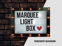 Free Marquee Cinema Light Box Typography / Poster Mockup PSD