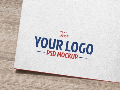 Free Natural White Paper Logo / Logotype Mockup PSD silver gold mockup free freebie psd logo mockup psd free mockup mockup psd logo mockup