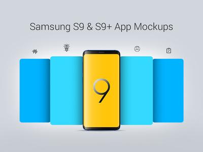 Free Samsung Galaxy S9 & S9+ App Screen Mockup PSD Files app screen mockup app mockup psd mobile mockup s9 mockup samsung galaxy s9 mockup samsung galaxy s9