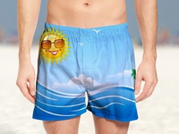 Free Summer Beach Shorts Mockup PSD