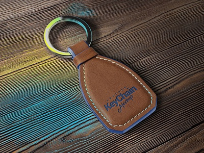 Free Leather Keychain Mockup PSD download freebie mockup free mockup mockup psd keychain mockup