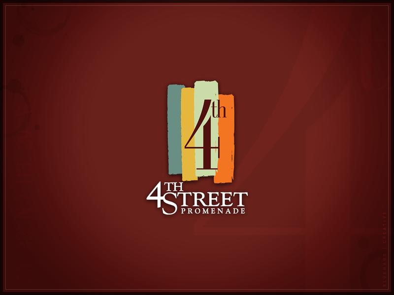 4th Street Promenade | Logo typogaphy brand street logo design
