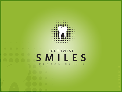 Southwest Smiles Dental Clinic | Logo family dental clinic smiles smile green halftone teeth tooth dental care dental dentistry dentist logo brand design