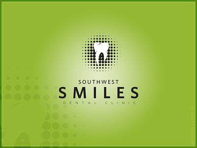 Southwest Smiles Dental Clinic | Logo family dental clinic smiles smile green halftone teeth tooth dental care dental dentistry dentist logo brand design