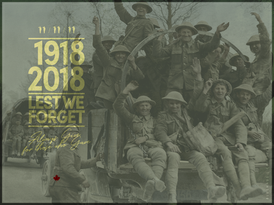 Remembrance Day 2018 armchair war soldiers military canadian canada ww1 armistice remembrance remember design