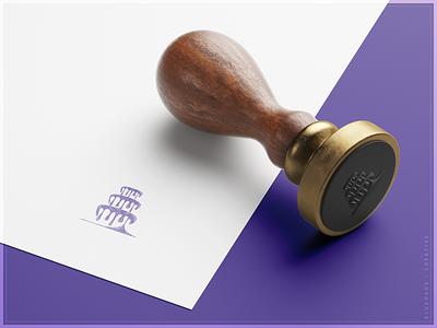 Whimsical Cake Studio | Stamp drips drip icing stamp purple bold color bold logo brand design