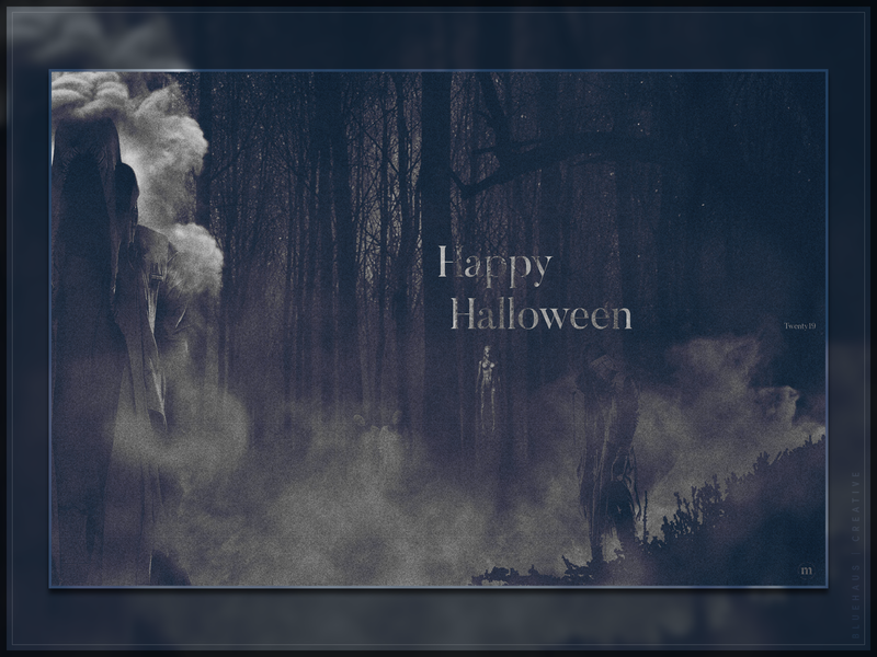 Halloween 2019 | Digital Art halloween design halloween levitation dark haunting horror spirits trees fog smoke forest scary creepy digital art manipulation design